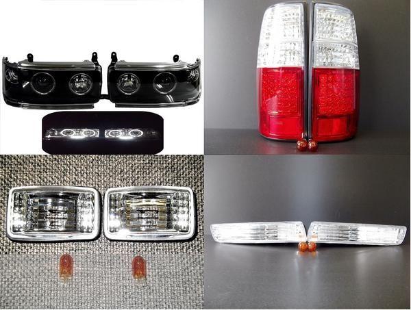 送料無料 送込ランクル80 ライトテールランプマーカーウィンカーランプSET