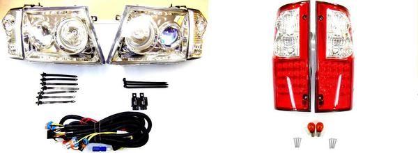 送料無料 ハイラックス P/U LN172H プロジェクター ヘッドライト & LED コンビ テール 左右 SET