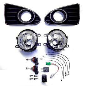 送料無料 トヨタ iQ フォグ ランプ 純正タイプ フルSET 1NR-FE 1KR フォグランプ ライト カバー スイッチ付 光軸調整有 TOYOTA IQ 取付KIT