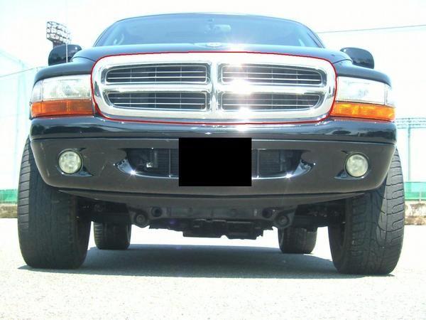 送料無料 ダッジ デュランゴ / ダコタ クロームメッキ フロントラジエーターグリル 純正品番55056092 ラジエター Dodge Durango ラヂエター