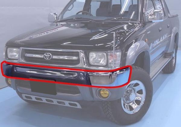 送料無料 大型商品 ハイラックス ピックアップ -01y クロームフロントバンパー