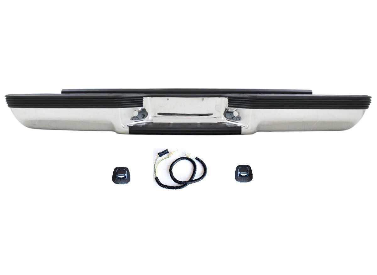 送料無料 大型商品 シボレー GMC サバーバン ユーコン 92-99 C1500 C2500 C3500 K1500 K2500 K3500 GMC ユーコン サバーバン -99y リアメッキステップバンパー リヤ クロームメッキ ステップ バンパー