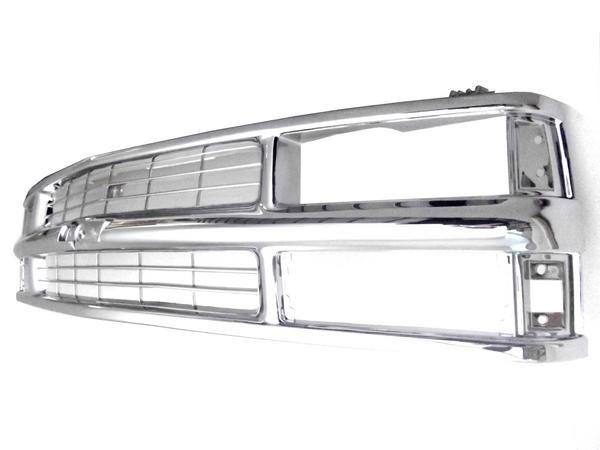 送料無料 大型商品 シボレー タホ サバーバン C-1500 K-1500 C-2500 K-2500 オールクロームメッキフロントグリル ラジエーターグリル グリル C1500 K1500