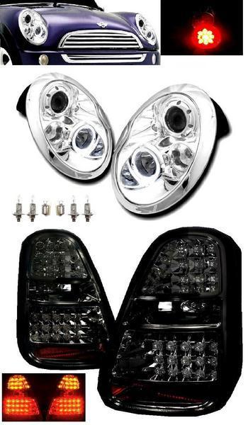 送料無料 送料BMW ミニ MINI R50 R52 R53 LED プロジェクター イカリング ヘッドライト & LED テールランプ 左右 セット ライト テール クーパー