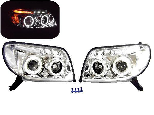送料無料 ハイラックス サーフ LED クリア イカリングヘッドライト ランプ 210 215