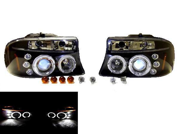送料無料 特注日本光軸 ダッジ ダコタ 97-04年 ダッジ デュランゴ 98-03y LED プロジェクター ヘッドライト インナーブラック 左右 US仕様 アンバーリフレクター ピックアップ