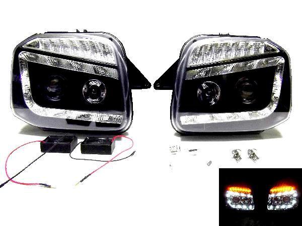 ジムニー JB23 LED プロジェクター ヘッド ライト ブラック