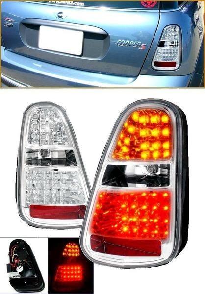 送料無料 ミニ MINI 2004y-2007y RA16 R50 R52 R53 後期用 リア LEDクリスタルテール 左右セット テールランプ リヤ クリア BMW