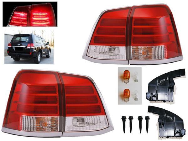 送料無料 トヨタ ランドクルーザー 200 07y -10y LEDコンビ テールランプ 左右セット ランクル URJ202W UZJ200W ラインLED ブレーキランプ