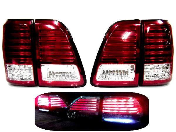 送料込 トヨタ ランドクルーザー 100 前中期 LEDコンビテールランプ 新品 左右セット LX470ルック ランクル テールライト UZJ100W HDJ101K