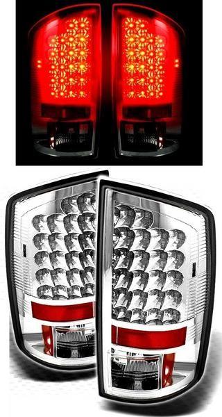 送料無料 ダッジ ラム ピックアップ 02y - 06y インナークロームメッキ LED テールランプ 左右セット 反射板内蔵 2ドア / 4ドア ダッヂ