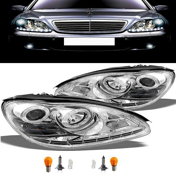 送料込 ベンツ S600 W220 前期用 W221後期LOOK LEDヘッドライト