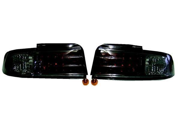 送料無料 日産 シルビア S14 前期中期 スモークレンズ LEDテールランプ 新品 左右セット テールライト リア テール 黒 NISSAN SILVIA
