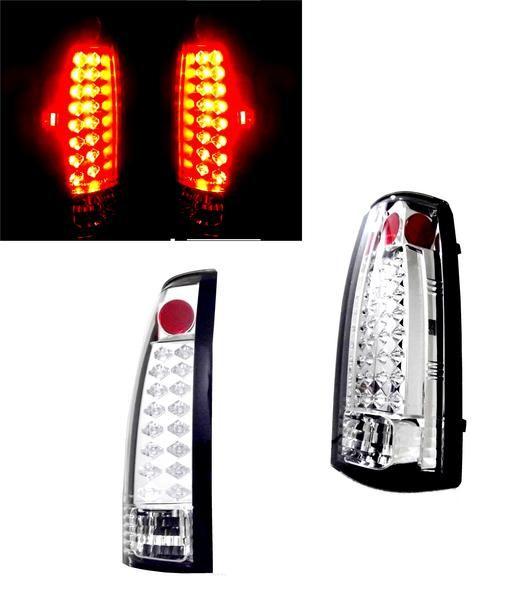 送込 GMC ユーコン デナリ C1500 LEDクリアテールランプ テール