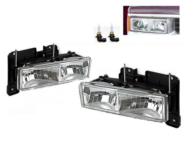 送料無料 シボレー GMC サバーバン タホ C1500 K1500 ブレイザー ジミー ユーコン クロームクリスタルフロントヘッドライト C-1500 K-1500