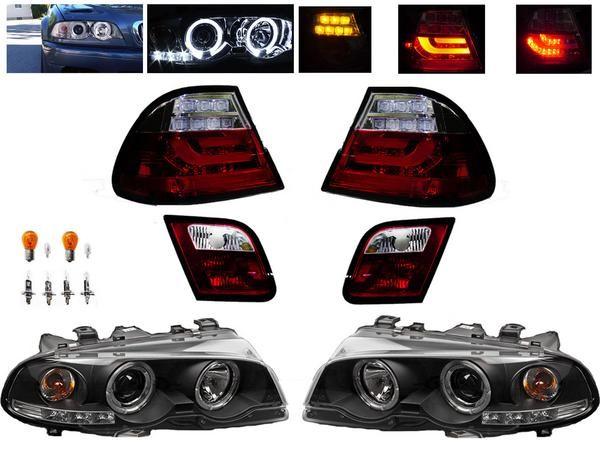 送込 BMW E46 クーペ前中期 LEDイカリング ヘッドライト&テール