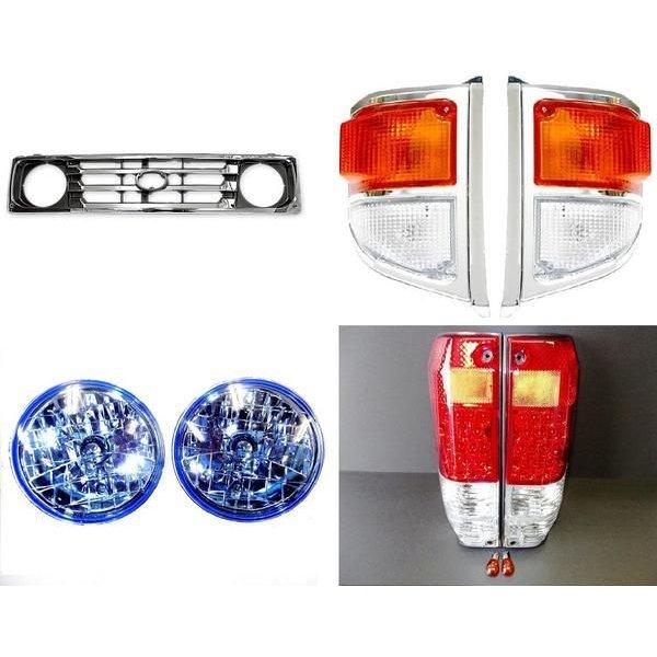 送料無料 トヨタ ランクル 70 系 ヘッドライト グリル LED テールランプ コーナー セット ランドクルーザー PZJ77V PZJ77HV HZJ77V HZJ77HV