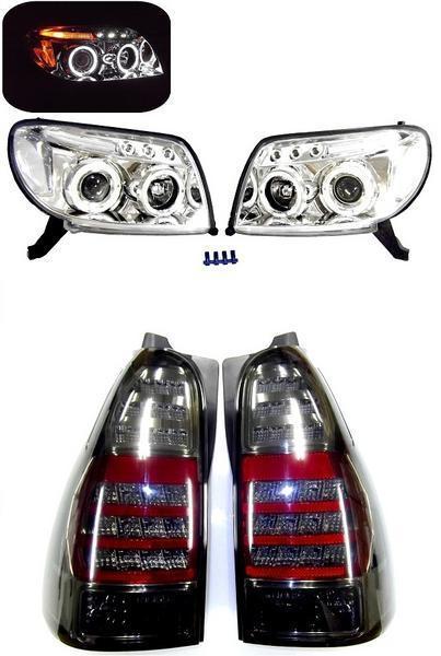 送料無料 サーフ KDN215W リア LED スモーク テールランプ & ヘッドライト SET ハイラックスサーフ セット