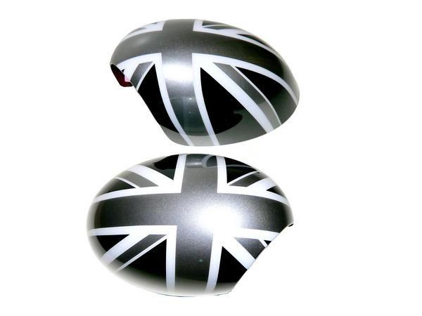 送料無料 送料MINI ミニ R55 ドアミラー カバー ユニオンジャック 黒白