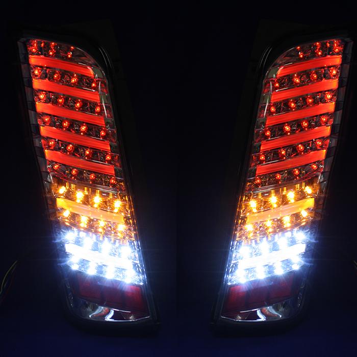 NV350 E26 キャラバン フルLED ファイバーテール 全6種類 色選択 左右セット