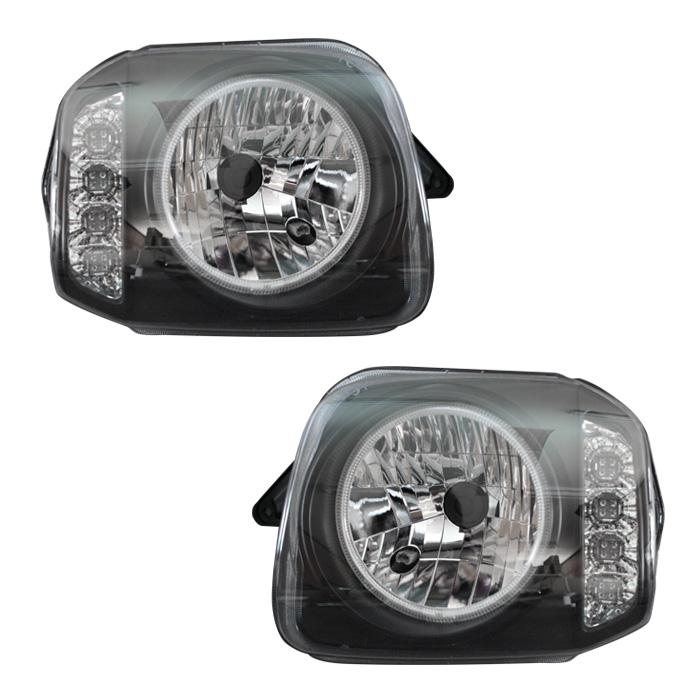 ヘッドライト CCFLリング付き ジムニー JB23 ウィンカー インナーブラック LED 左右セット