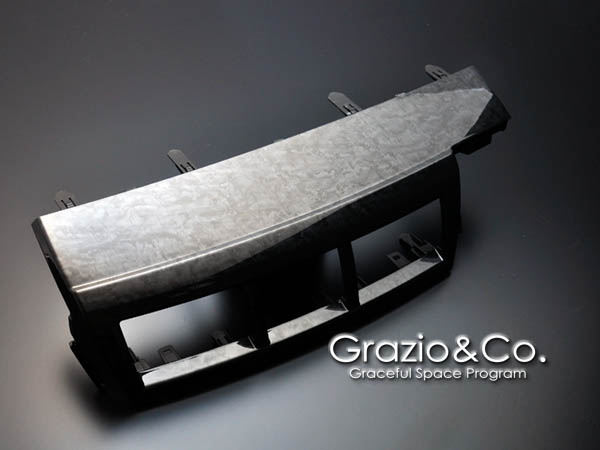 Grazio プリウスα ZVW40/41 3コートグラフィック・インテリアトリム センターレジスターカバー BIRD'S EYE MAPLE GRAY