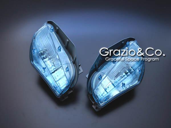 Grazio プリウスα ZVW40/41 フロントターンランプ(左右SET ウインカーバルブは車両より転用) シナジーブルー