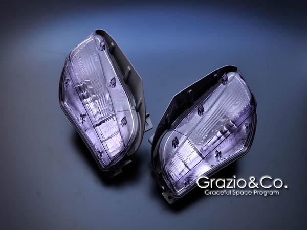 Grazio プリウスα ZVW40/41 フロントターンランプ(左右SET ウインカーバルブは車両より転用) オパールクリスタル