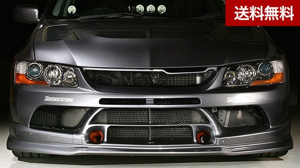 LANCER EVOLUTION IX MR 09 S耐 Version FRONT BUMPER Ver2 + S耐Ver (FRP) |個人宅発送不可