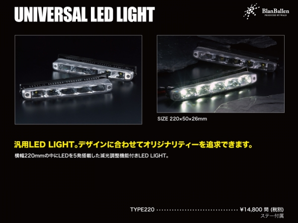 Blan Ballen UNIVERSAL LED LIGHT LED TYPE220 (左右2個セット)