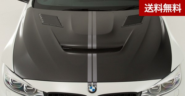 F82 M4 COOLING BONNET HOOD SYSTEM-2 With Louver Duct CARBON |個人宅発送不可