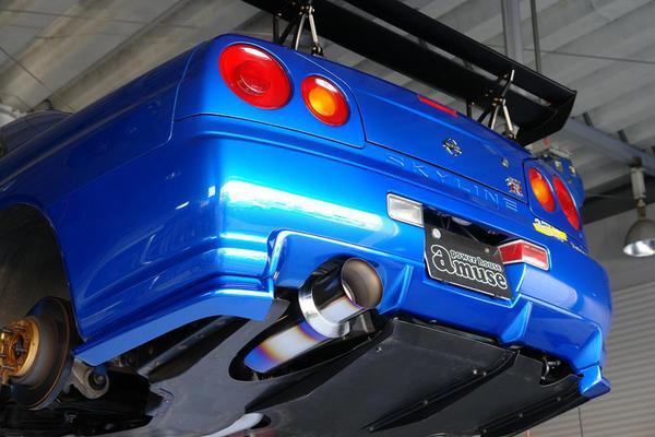 アミュ-ズ BNR34 フルチタンマフラー R1000