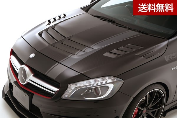 VRS A45 AMG COOLING BONNET HOOD【SYSTEM-2 with side finduct】 FRP(ルーバー部CARBON/louver CARBON) |個人宅発送不可