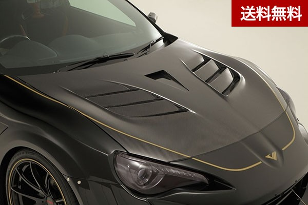 TOYOTA 86 WIDE BODY Ver. COOLING BONNET HOOD SYSTEM-2<with NACA DUCT> (MC前後)   CARBON |個人宅発送不可