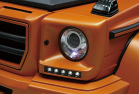 MERCEDES BENZ G-CLASS W463 Sports Line BlackBison Edition HEAD LIGHT COVER (FRP製)