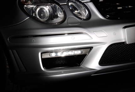 E-class W211 AMG E63バンパ-用 LED NIGHT SYSTEM INSERT ADAPTER