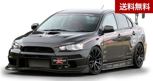 LANCER EVOLUTION X  collaboration AERO FRONT BUMPER (UNDER部Collaboration/2PCS) FRP製 |個人宅発送不可