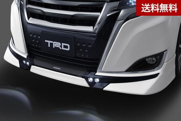 TRD エスクァイア ZRR8#G/ZWR80G (2017.7~2019.1)フロントスポイラー (LED付) ブラキッシュアゲハガラスフレーク(221)  大型商品は個人宅発送不可/法人・西濃運輸支店止