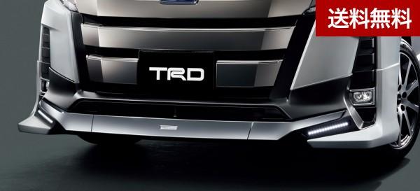 TRD ノア(8#系) [ハイブリッド 車 Si ・ガソリン車 Si] フロントスポイラー(LED付) (2019.1 ~ )  素地(未塗装) |大型商品は個人宅発送不可/法人・西濃運輸支店止