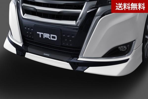 TRD エスクァイア 8#系(2019.1~ )フロントスポイラー (LEDなし) ICS無車用 XIグレード スパークリングブラックパールクリスタルシャイン(220) |大型商品は個人宅発送不可/法人・西濃運輸支店止