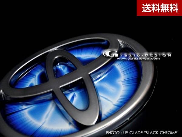 """Grazio AQUA(アクア) ヒートブルーエンブレム""""EARTH"""" リヤ用(W120)のみ ブラッククローム"""