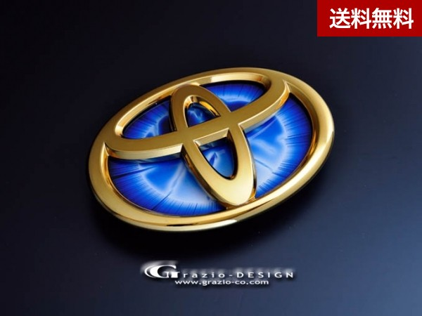 "Grazio iQ (リヤ) ヒートブルーエンブレム""EARTH""のみ ゴ-ルドクロ-ム"