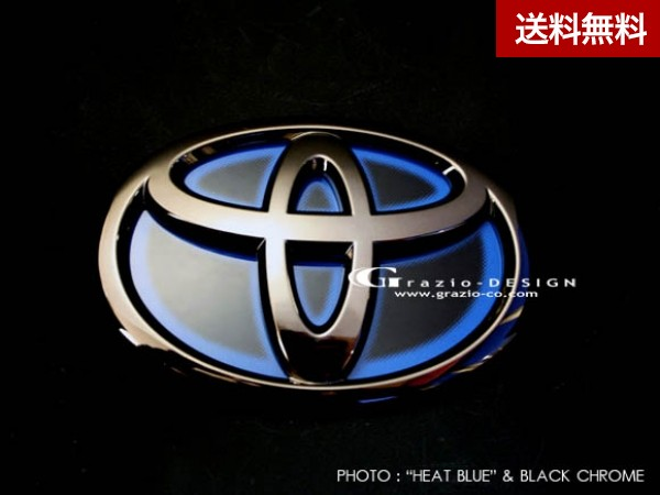 Grazio 10系アルファード(リヤ)のみ ヒートブル- エンブレム ブラッククロ-ム