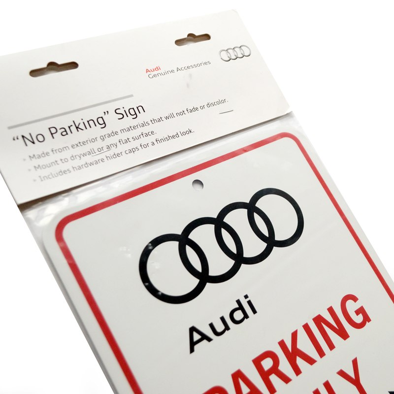 Audi Audi PARKING ONLY (parking only) sign (parking signs)