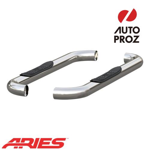 [USアリーズ 直輸入正規品] Aries ダッジ ラム 1500/2500/3500 レギュラーキャブ 3インチラウンドサイドバー ステンレス製