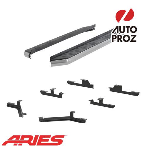 [USアリーズ 直輸入正規品] Aries シボレー/GMC エクイノックス/テレーン 5インチランニングボード シルバー