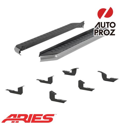 [USアリーズ 直輸入正規品] Aries トヨタ 4ランナー トレイル 5インチランニングボード シルバー