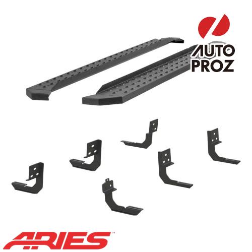 [USアリーズ 直輸入正規品] Aries ダッジ ラム1500/ラム2500/3500 クルーキャブ 6.5インチサイドステップ ブラック