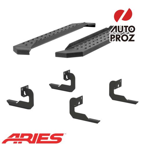 [USアリーズ 直輸入正規品] Aries フォード F150 レギュラーキャブ、ガソリン車のみ 6.5インチサイドステップ ブラック