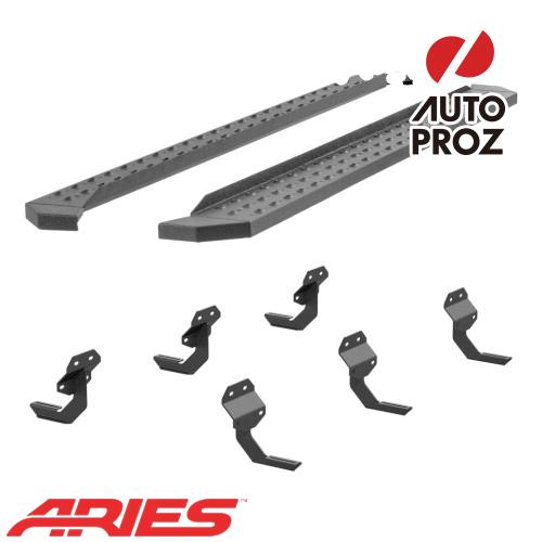 [USアリーズ 直輸入正規品] Aries フォード F150 スーパークルー、ガソリン車のみ 6.5インチサイドステップ ブラック